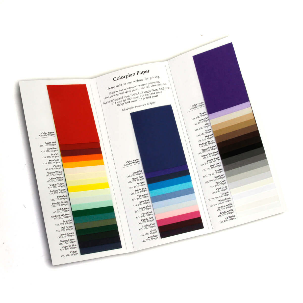 Colored Paper Sample Books