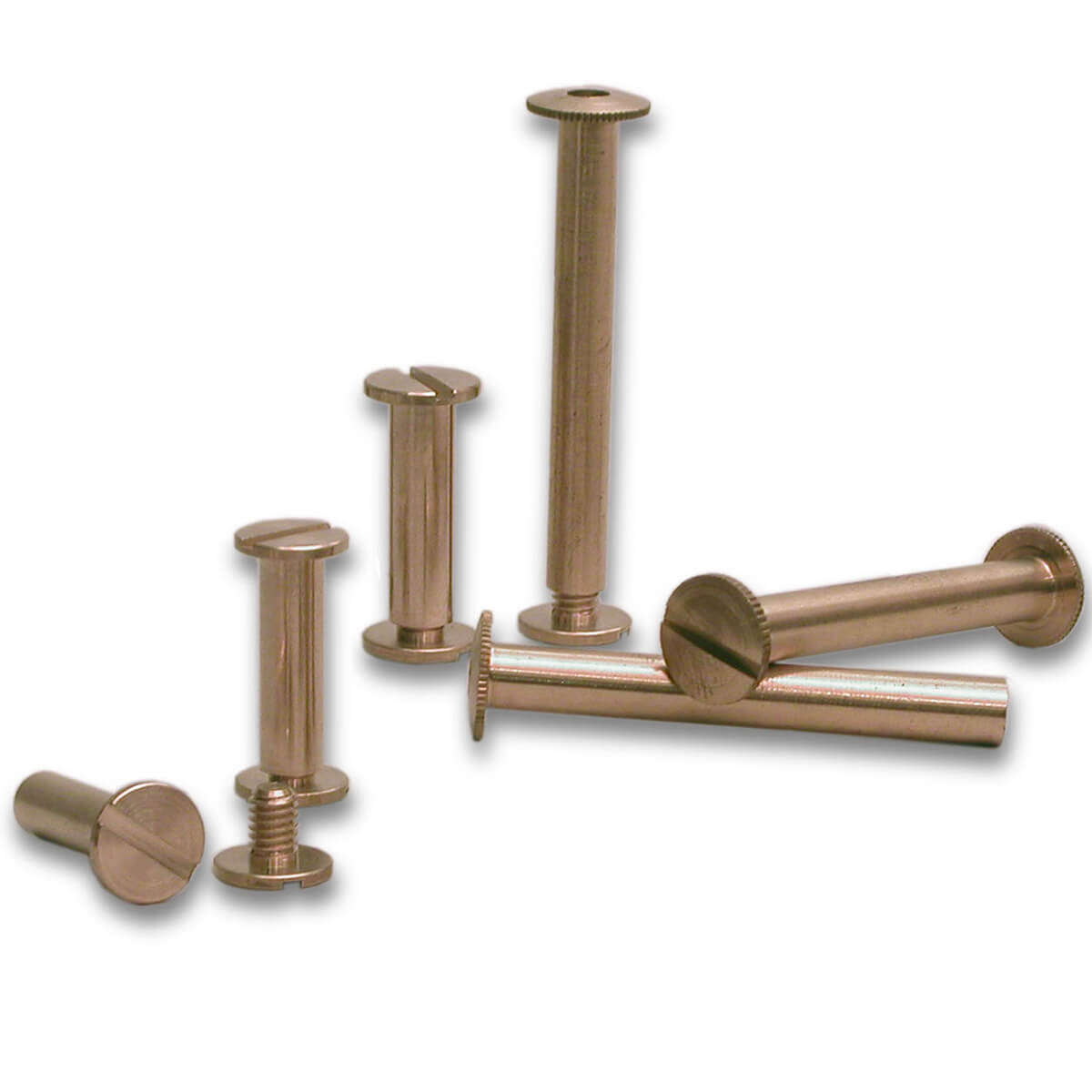 Brass Binder And Screw Post, Chicago Screws