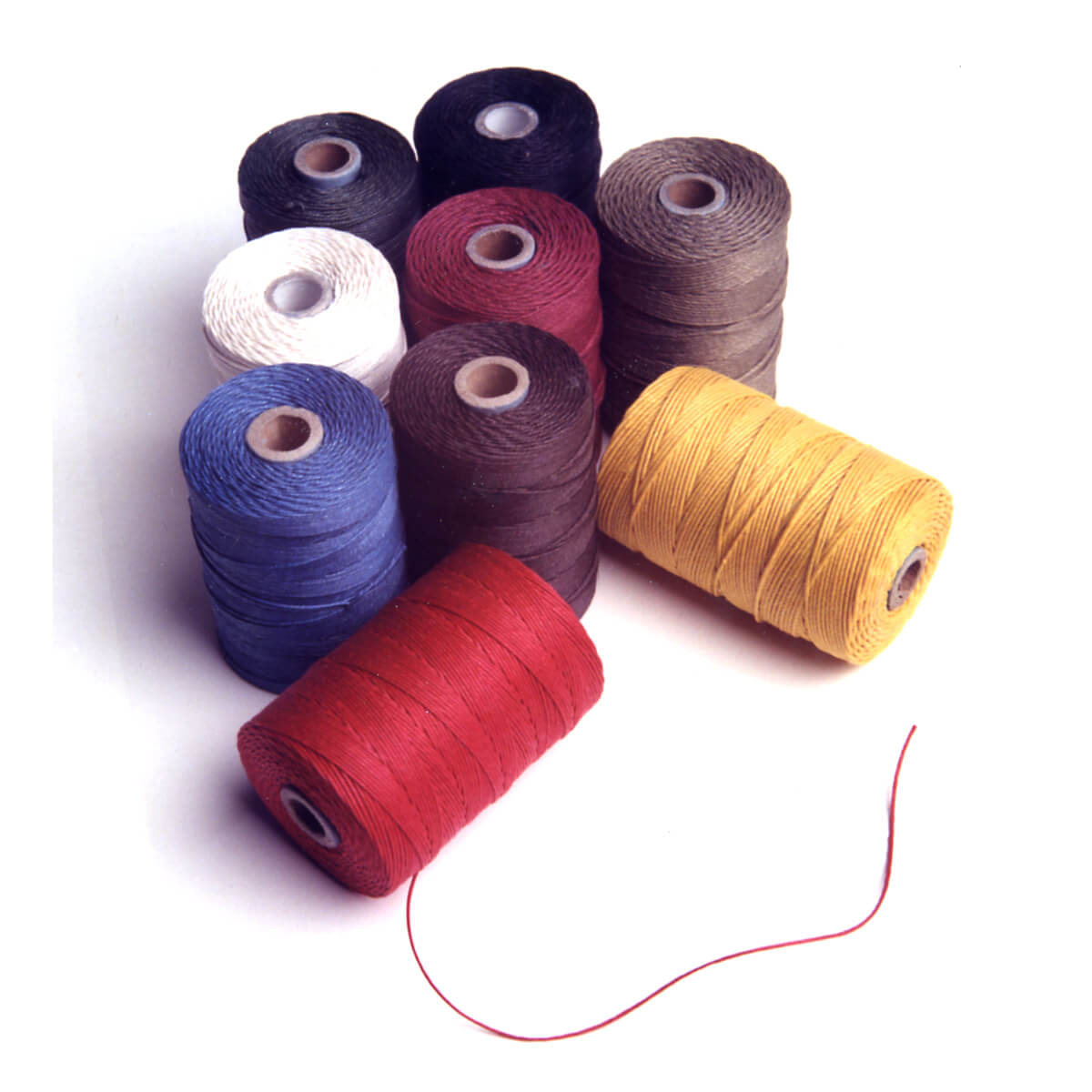 Irish Linen Bookbinding Thread: Unbleached & Colored