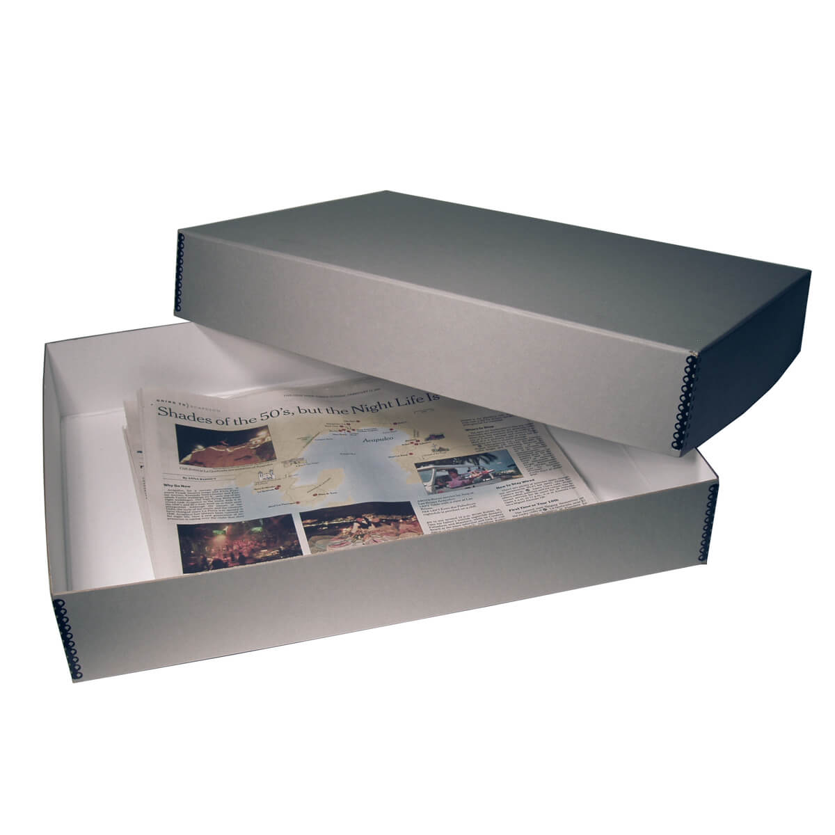 """17/""""x14/"""" Archival /& Acid-Free Storage PRESENTATION CASE Great for Newspapers!"""