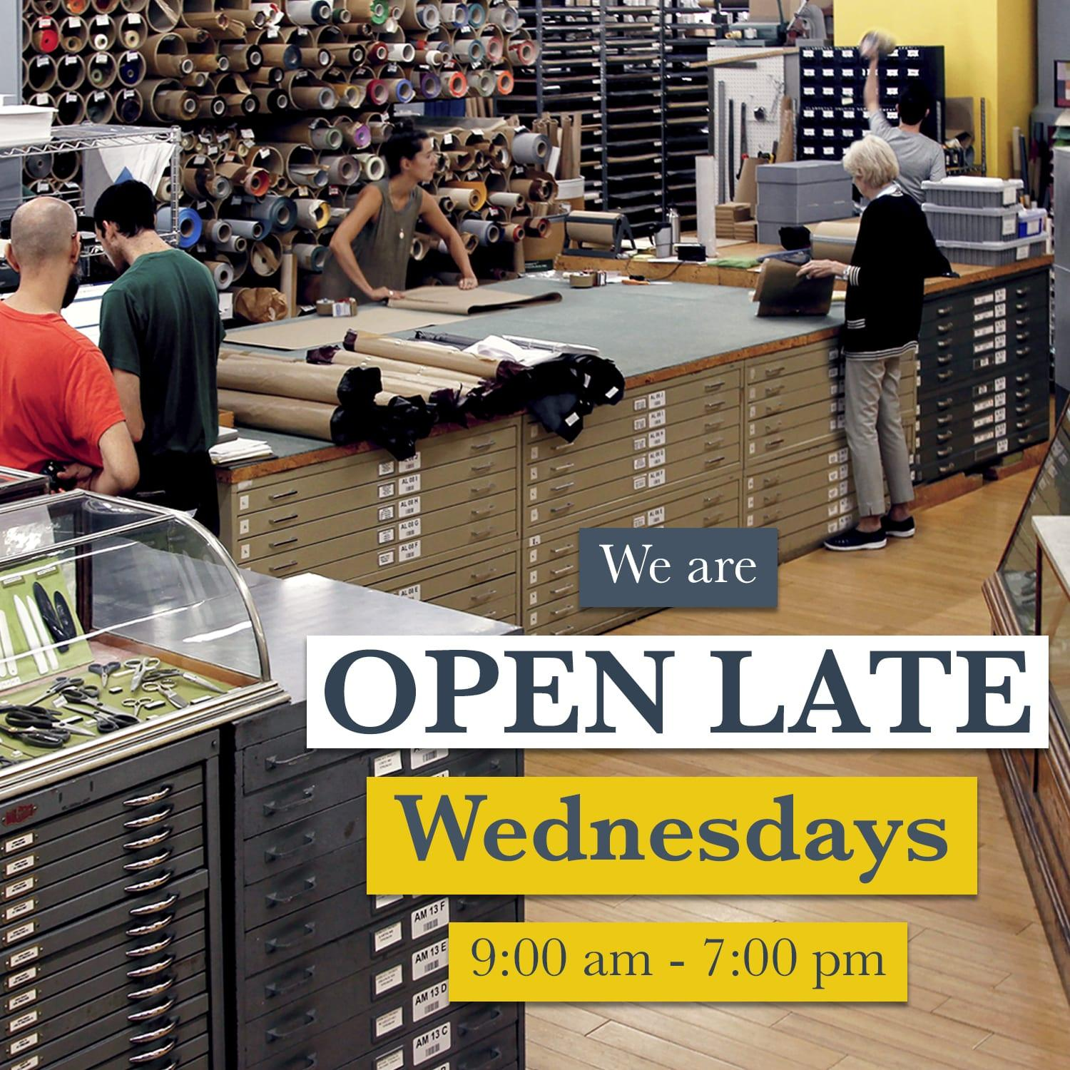 New Extended Hours: Wednesday 9:00am - 8:00pm