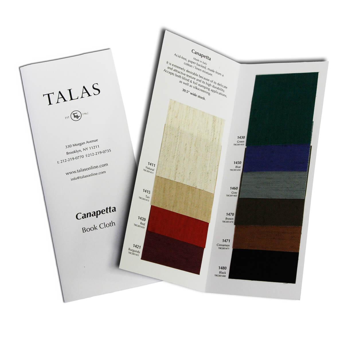Canapetta Bookcloth Sample Book Talas