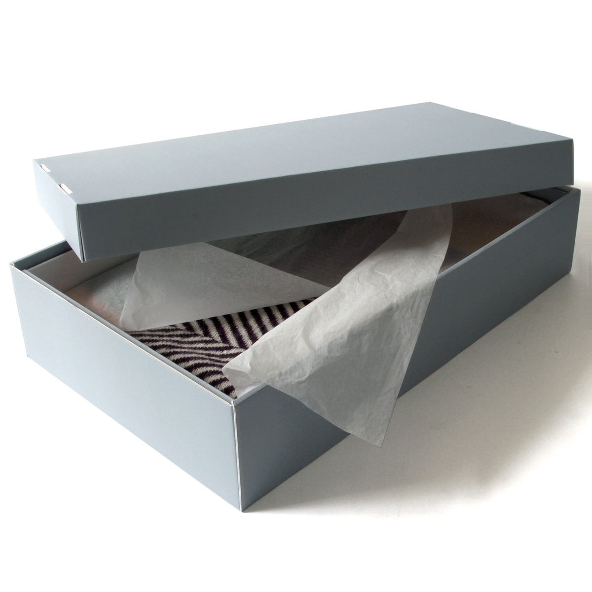 Flat storage is ideal for most textiles because it provides support for the entire textile, thus freeing the textile fibres from the stress of supporting their own weight. When flat storage is enclosed, it also protects the artifact from water damage, dust, and light. When storing textiles flat, it.